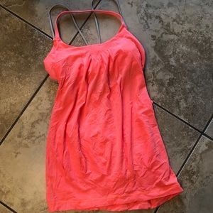 Lululemon orange gray workout tank size Small